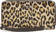 Compagnon Savage Animal Print Leather Wallet