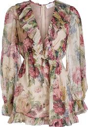 Melody Floating Silk Chiffon Playsuit