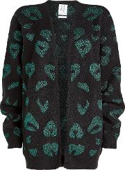 Printed Cardigan With Wool And Mohair