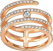 Creativity Coiled Ring White Rose Gold Plated