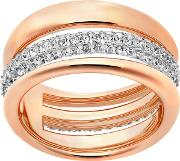 Exact Ring, White, Rose Gold Plating