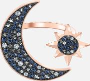 Symbolic Moon Ring, Multi Coloured, Rose Gold Tone Plated