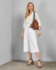Belted Tailored Culottes