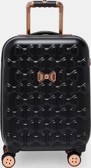 Bow Detail Small Suitcase Black