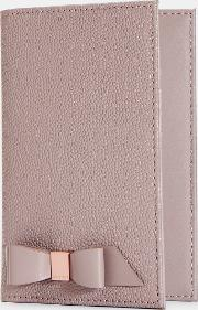Bow Leather Passport Holder