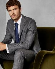 Classic Checked Wool Suit Jacket
