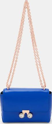 Crystal Bobble Leather Cross Body Bag