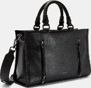 Double Zip Small Tote Bag