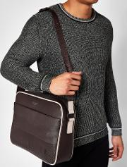 Embossed Messenger Bag