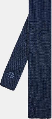 Embroidered Knitted Silk Tie