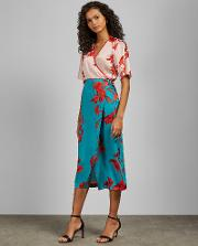 Fantasia Split Hem Midi Skirt
