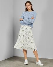 Fortune Pleated Midi Skirt