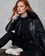 Removable Collar Leather Jacket