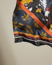 Savanna Contrast Long Silk Scarf