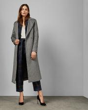 Side Button Detailed Long Coat