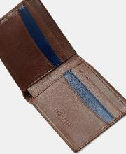 Stitch Detail Leather Wallet