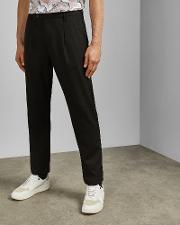 Tapered Wide Leg Trousers