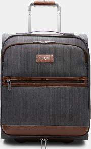 Two Tone Small Suitcase Grey