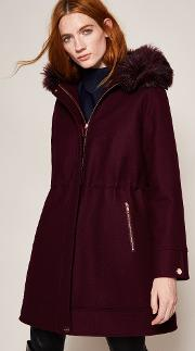 Wool And Cashmere Blend Hooded Parka