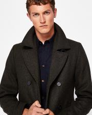 Wool Peacoat Dark Green