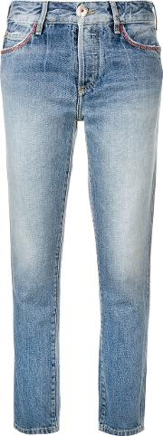 Jeans With Embroidered Pocket