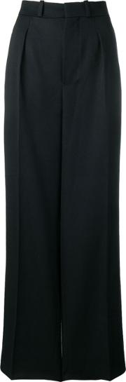 Wide Wool Trousers