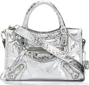 City Metallic Leather Mini Shoulder Bag