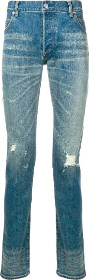 Cotton Jeans With Cracks
