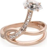 Gloriosa Lily Rose Gold Ring