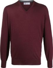 Wool Blend V Neck Jumper