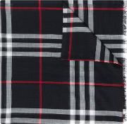 Giant Check Wool Scarf