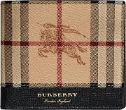 Haymarket Check And Leather International Bifold Wallet
