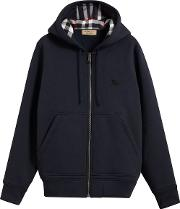 Hooded Sweatshirt In Jersey And Details With Tartan Motif