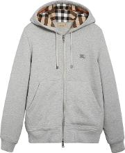 Hooded Sweatshirt With Tartan Pattern Detail