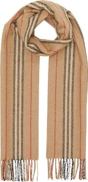 Small Icon Stripe Cashmere Scarf