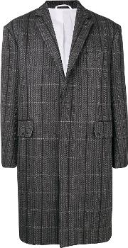Virgin Wool Striped Coat