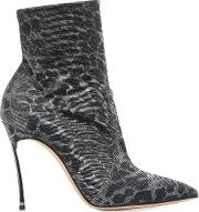 Leo Printed Blade Ankle Boots