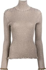Silk Blend Turtle Neck Sweater