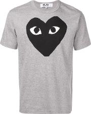 T Shirt With Black Heart