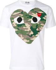 T Shirt With Camouflage Heart