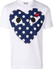 T Shirt With Polka Dots Heart