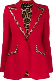 Jacket With Leopard Printed Details