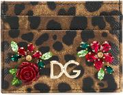 Leather Credit Card Holder With Dg Logo