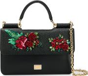 Mini Bag With Chain And Embellished Roses