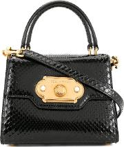 Welcome Mini Bag In Snake Printed Leather