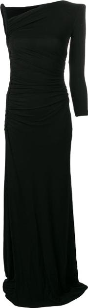 Black Asymmetric Long Dress