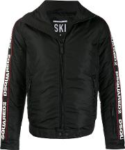 Padded Jacket With Writing On Sleeves