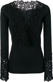 Sweater With Lace Contours