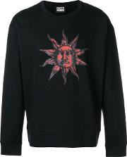 Sun Print Cotton Sweatshirt