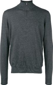 Highneck Sweater With Patches